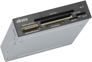 "AK-ICR-09 - Akasa - Internal reader 3.5"" USB 2.0 for memory and smart card (compatible belgian eID)"