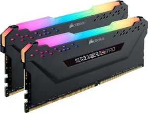 CMW16GX4M2C3200C16 - Corsair Vengeance RGB PRO Black Kit 2x8GB PC4-25600U DDR4-3200 CL16-18-18-36